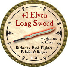 +1 Elven Long Sword - 2010 (Gold)