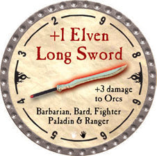 +1 Elven Long Sword - 2010 (Platinum)