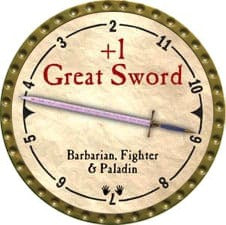 +1 Great Sword - 2007 (Gold)