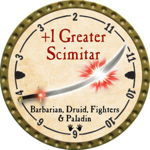 +1 Greater Scimitar - 2014 (Gold)