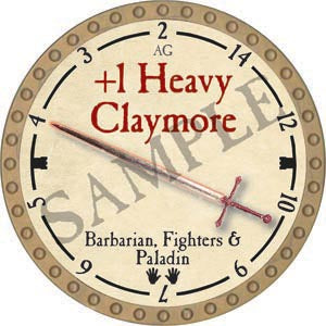 +1 Heavy Claymore - 2020 (Gold)