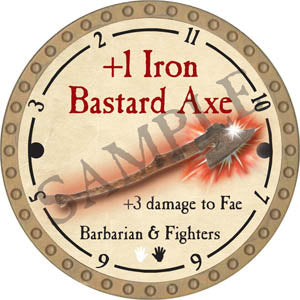 +1 Iron Bastard Axe - 2017 (Gold)