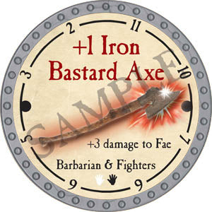 +1 Iron Bastard Axe - 2017 (Platinum)