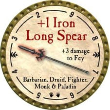 +1 Iron Long Spear - 2009 (Gold)