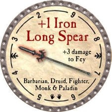 +1 Iron Long Spear - 2009 (Platinum)