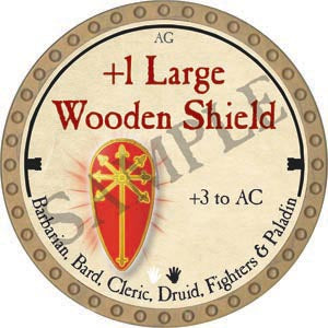 +1 Large Wooden Shield - 2020 (Gold)