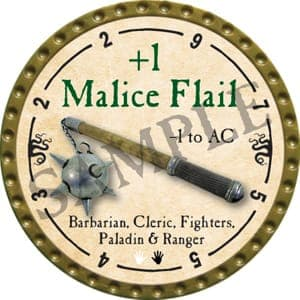 +1 Malice Flail - 2016 (Gold)