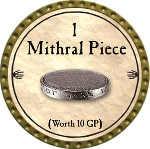 1 Mithral Piece - 2012 (Gold)