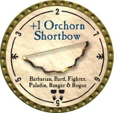 +1 Orchorn Shortbow - 2009 (Gold) - C37