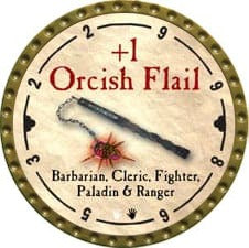 +1 Orcish Flail - 2008 (Gold)