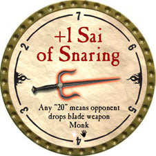+1 Sai of Snaring - 2010 (Gold)