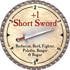 +1 Short Sword - 2007 (Platinum)
