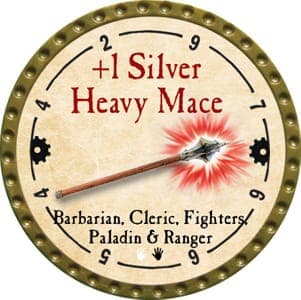 +1 Silver Heavy Mace - 2013 (Gold)