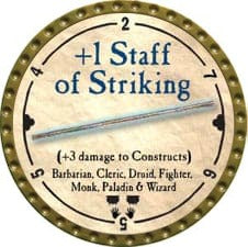+1 Staff of Striking - 2008 (Gold)
