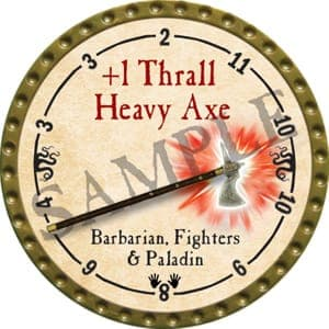 +1 Thrall Heavy Axe - 2016 (Gold)