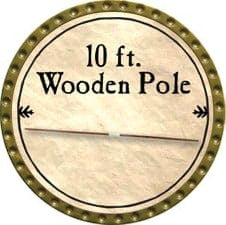 10 ft. Wooden Pole - 2009 (Gold)
