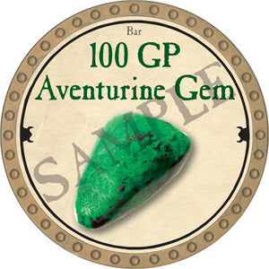 100 GP Aventurine Gem - 2018 (Gold)