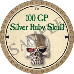 100 GP Silver Ruby Skull - 2020 (Gold)