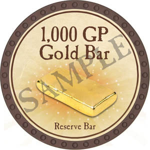 1,000 GP Gold Bar (Brown) - C26