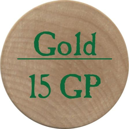 15 Gold Pieces (UC) - 2005b (Wooden)
