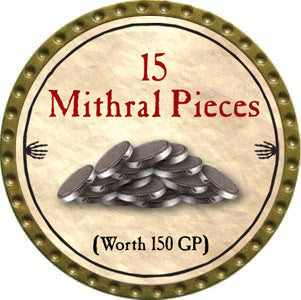15 Mithral Pieces - 2012 (Gold)