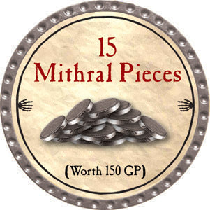 15 Mithral Pieces - 2012 (Platinum) - C37