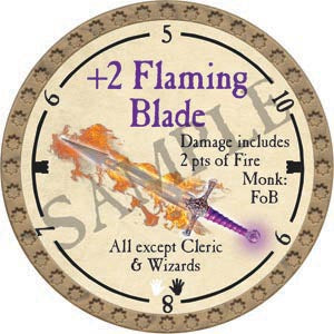 +2 Flaming Blade - 2020 (Gold) - C11