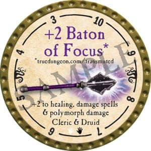 +2 Baton of Focus - 2016 (Gold)