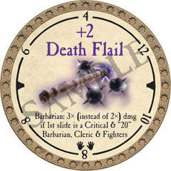 +2 Death Flail - 2019 (Gold)