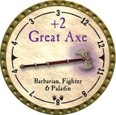 +2 Great Axe - 2007 (Gold)