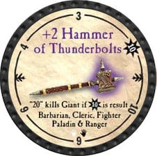 +2 Hammer of Thunderbolts - 2009 (Onyx)