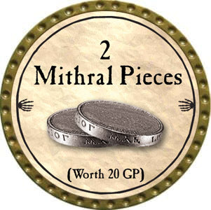 2 Mithral Pieces - 2012 (Gold)