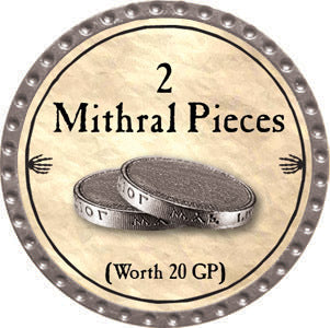 2 Mithral Pieces - 2012 (Platinum) - C37