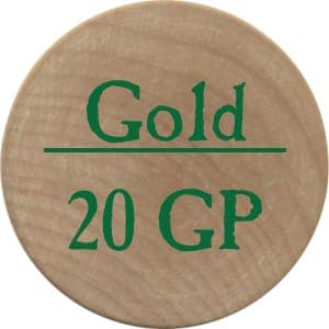 20 Gold Pieces (UC) - 2005b (Wooden) - C26