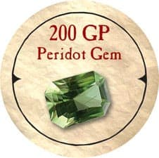 200 GP Peridot Gem - 2005b (Wooden) - C26