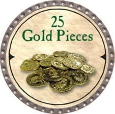 25 Gold Pieces (UC) - 2007 (Platinum)