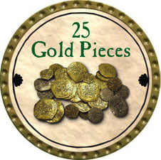 25 Gold Pieces (UC) - 2011 (Gold)