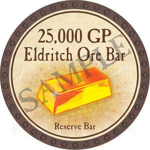25,000 GP Eldritch Ore Bar (Brown) - C12