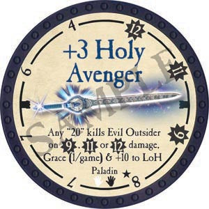 +3 Holy Avenger - 2020 (Blue) - C26