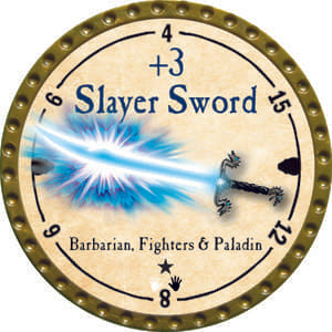 +3 Slayer Sword - 2014 (Gold) - C1
