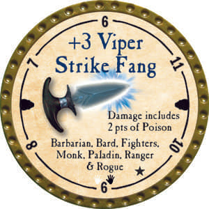 +3 Viper Strike Fang - 2014 (Gold) - C1