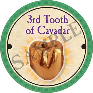 3rd Tooth of Cavadar - 2017 (Light Green)