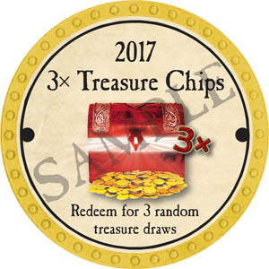 3x Treasure Chips - 2017 (Yellow)