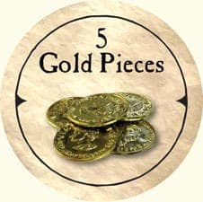 5 Gold Pieces - 2005a (Wooden) - C26