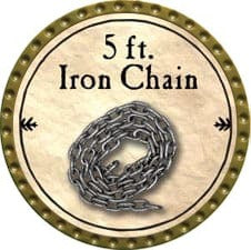 5 ft. Iron Chain - 2009 (Gold)