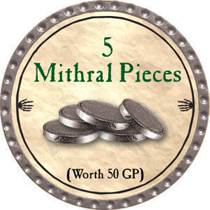 5 Mithral Pieces - 2012 (Platinum) - C37