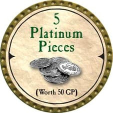 5 Platinum Pieces - 2007 (Gold)
