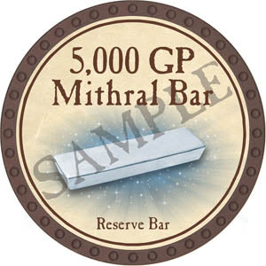 5,000 GP Mithral Bar (Brown) - C1