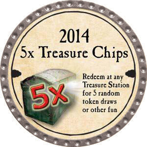 5x Treasure Chips - 2014 (Platinum)
