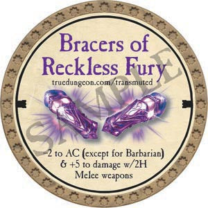 Bracers of Reckless Fury - 2020 (Gold)